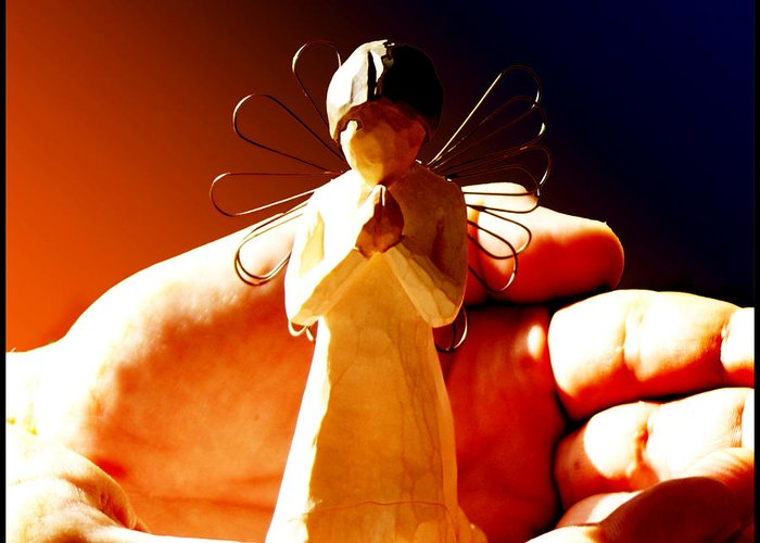 Still Life Greeting Card featuring the photograph Little Angel by Holly Kempe