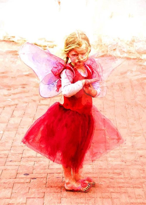 Angel Greeting Card featuring the photograph Little Angel Wings by Alice Gipson