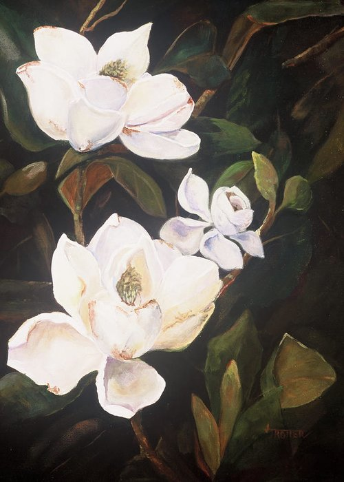 Floral Greeting Card featuring the painting Little Gems by Jimmie Trotter