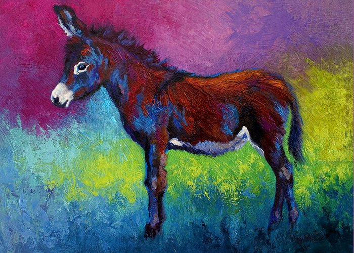 Burro Greeting Card featuring the painting Little Jenny by Marion Rose