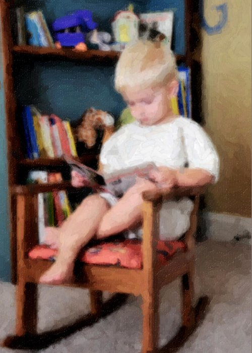Reading Greeting Card featuring the photograph Little Learner by Lyle Huisken