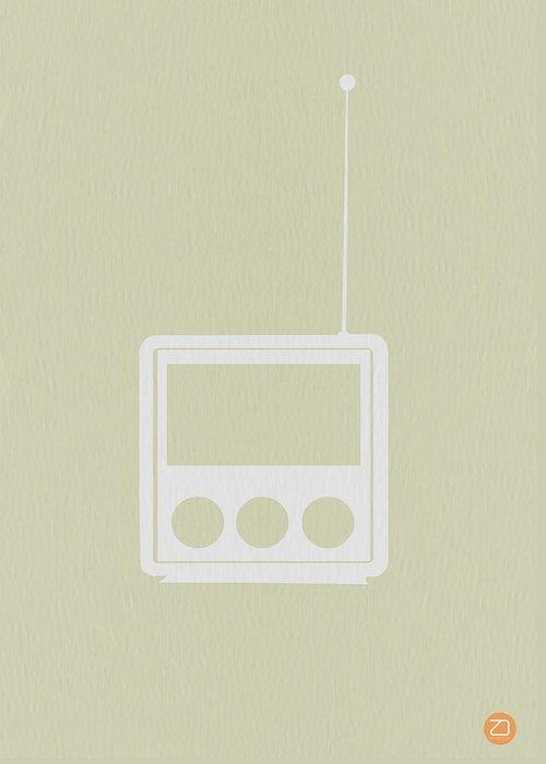 Radio Greeting Card featuring the digital art Little Radio by Naxart Studio