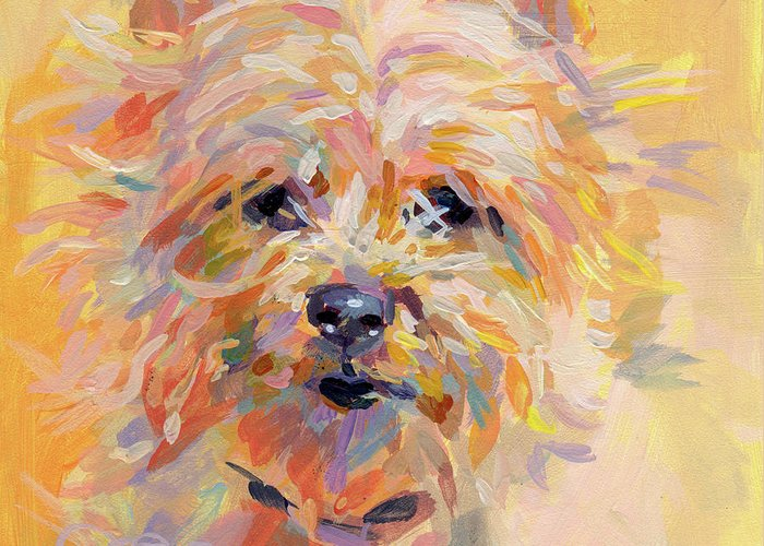 Cairn Terrier Greeting Card featuring the painting Little Ray Of Sunshine by Kimberly Santini