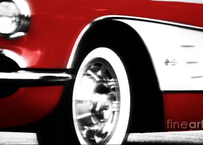 Corvette Greeting Card featuring the photograph Little Red Corvette by Jason Williams
