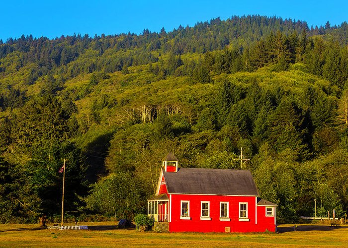 Red School House Photographs Greeting Cards