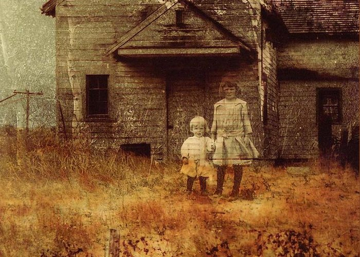 Ghosts Greeting Card featuring the photograph Little Sister by Brande Barrett