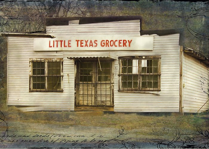 Historic Country Store Mixed Media Greeting Cards