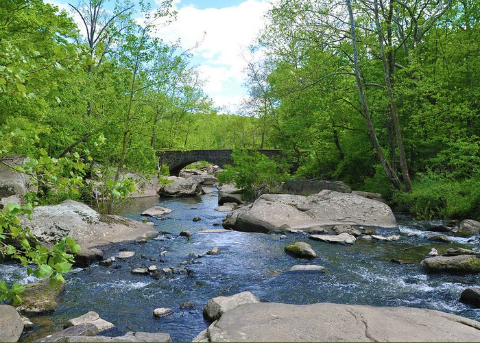 Little Greeting Card featuring the photograph Little Unami Creek - Pennsylvania by Bill Cannon