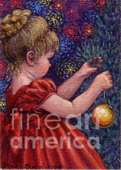 Occupy China Greeting Card featuring the painting Little Winter Girl by Jane Bucci