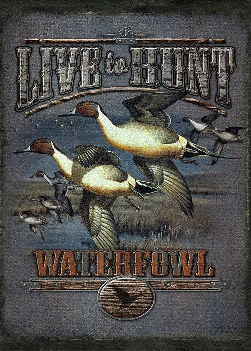 Cynthie Fisher Greeting Card featuring the painting Live To Hunt Pintails by JQ Licensing