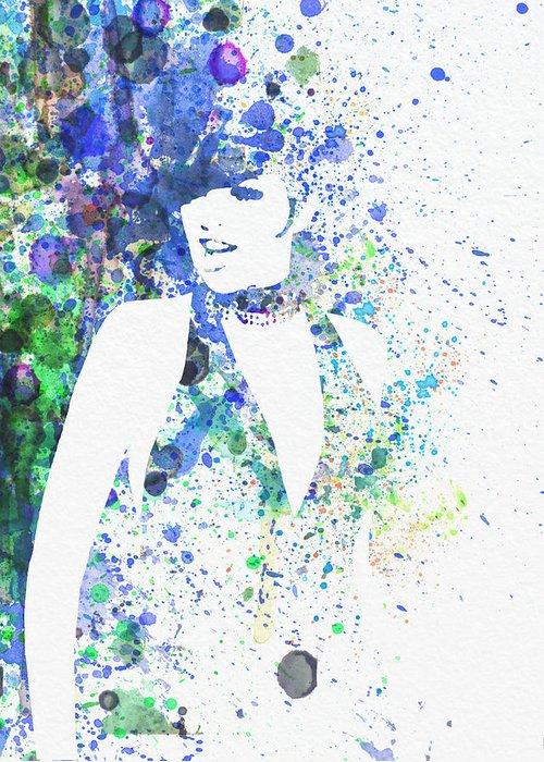 Liza Minnelli Poster Digital Art Greeting Card featuring the digital art Liza Minnelli Cabaret by Naxart Studio