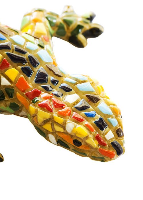 Architect Greeting Card featuring the pyrography Lizard Souvenir By Antony Gaudi by Soultana Koleska