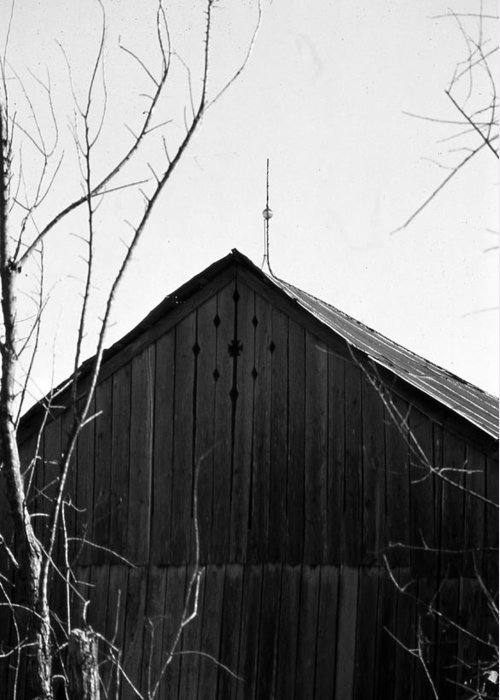 Ansel Adams Greeting Card featuring the photograph lloyd-shanks-barn-1BW by Curtis J Neeley Jr