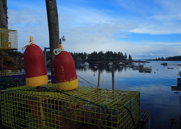 Seascape Greeting Card featuring the photograph Lobster Season by Doug Mills