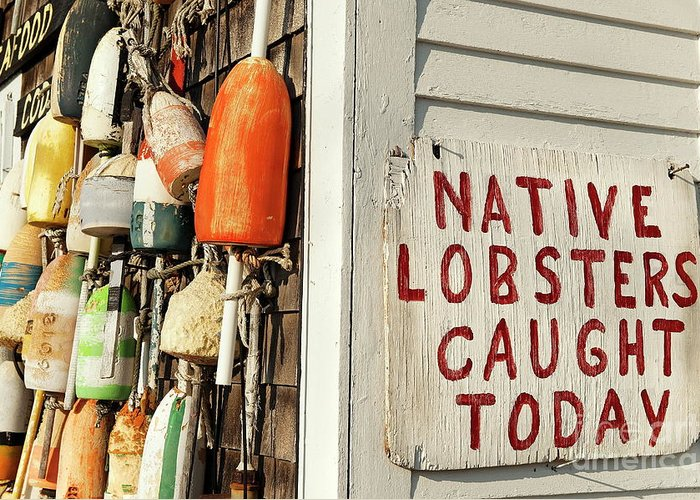 Americana Greeting Card featuring the photograph Lobster Shack. by John Greim
