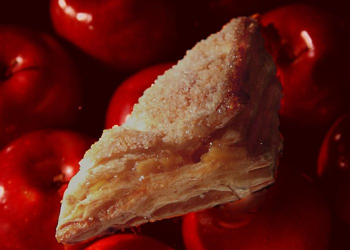 Food Greeting Card featuring the photograph local bakery   Apple Crisp by Nicholas J Mast