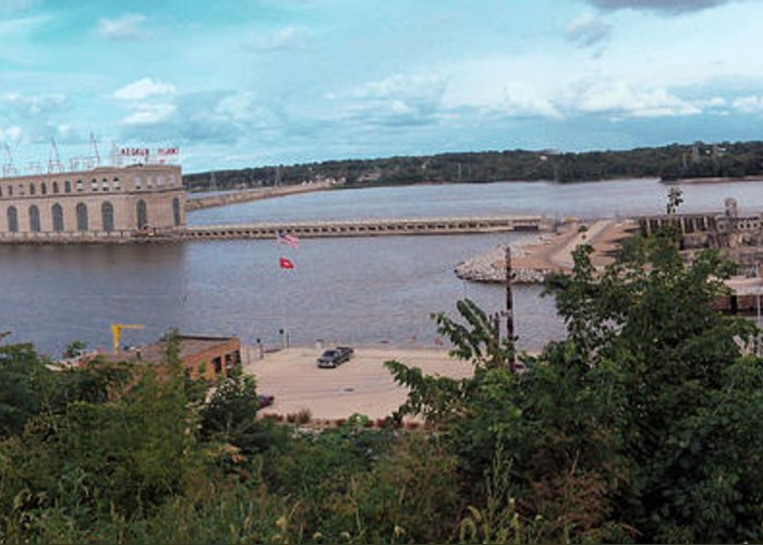 Dam Greeting Card featuring the photograph Lock And Dam 19 by Jame Hayes