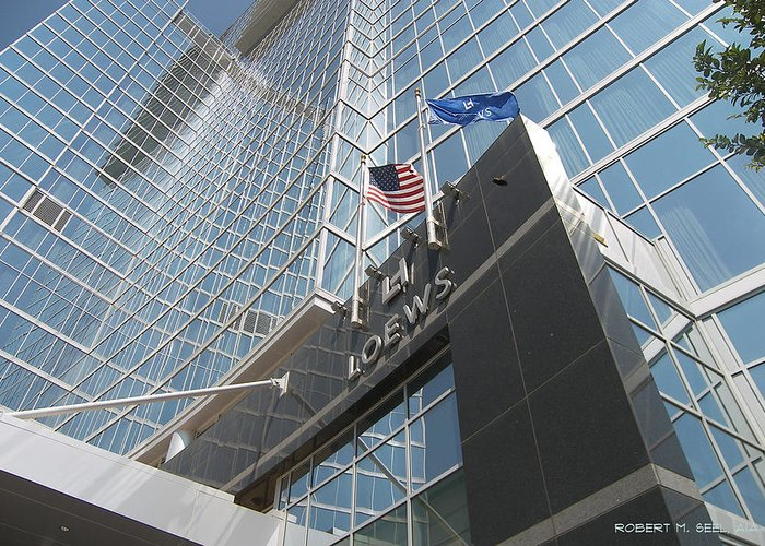 Rob Seel Greeting Card featuring the photograph Loews Atlanta by Robert M Seel