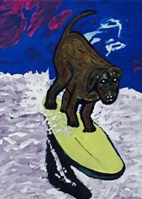 Surfing Magazine Paintings Greeting Cards