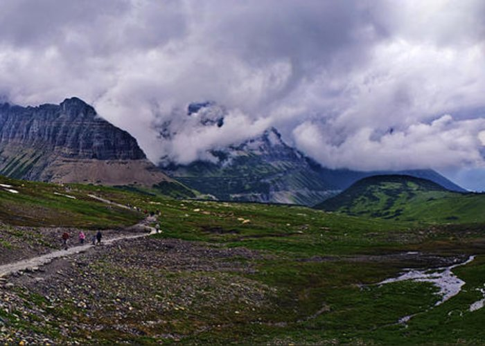Pass Greeting Card featuring the photograph Logans Pass by Christopher Lugenbeal