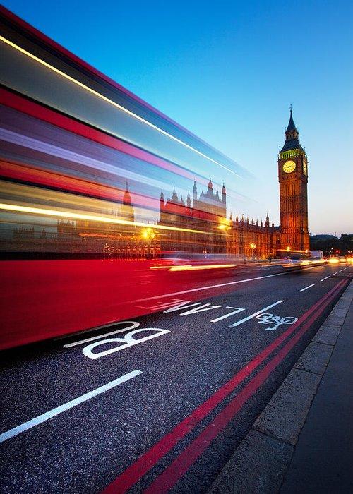 London Greeting Card featuring the photograph London Big Ben by Nina Papiorek