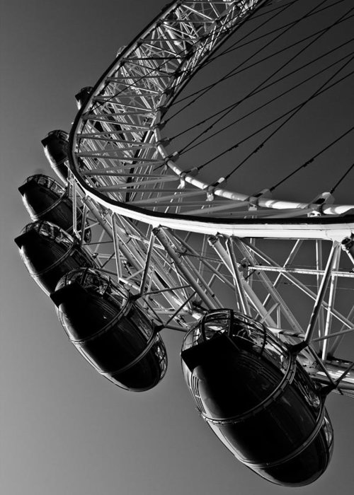 London Greeting Card featuring the photograph London Eye by David Pyatt
