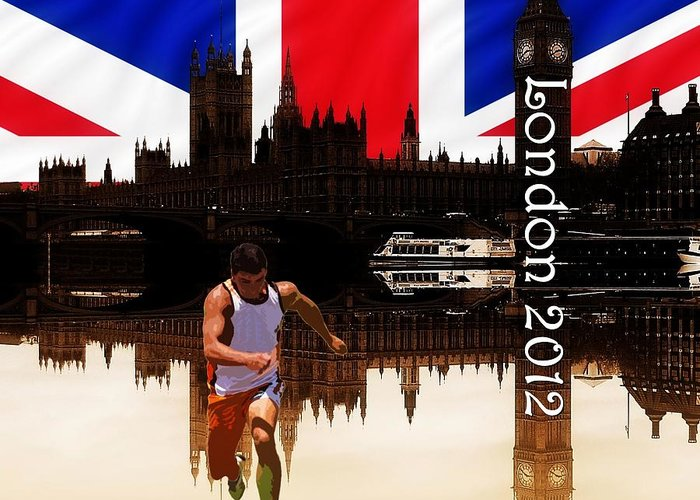 London 2012 Greeting Card featuring the photograph London Olympics 2012 by Sharon Lisa Clarke