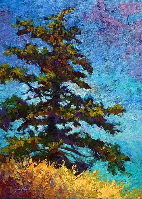 Trees Greeting Card featuring the painting Lone Pine II by Marion Rose