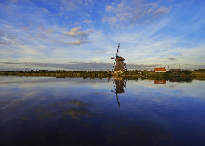 Lone Windmill Greeting Card featuring the photograph Lone Windmill by Chad Dutson