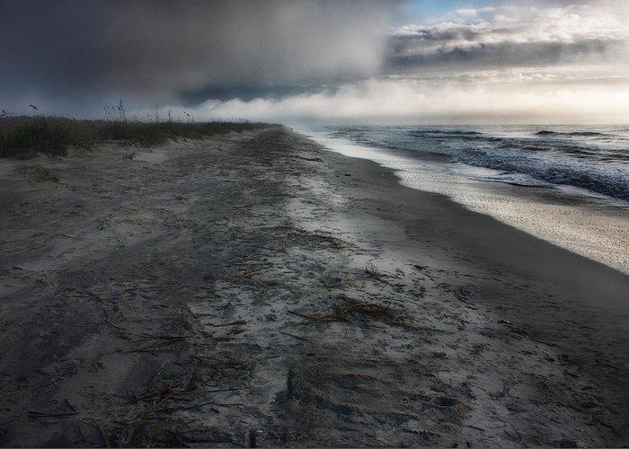Huntington Beach Greeting Card featuring the photograph Lonely Beach by Matt Trimble