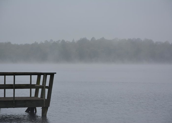 Lonely On The Lake Greeting Card featuring the photograph Lonely On The Lake by Charlie Day