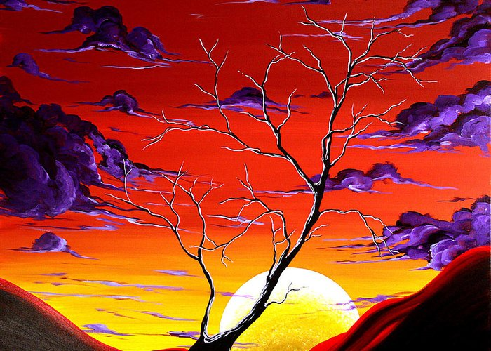 Art Greeting Card featuring the painting Lonely Soul By Madart by Megan Duncanson