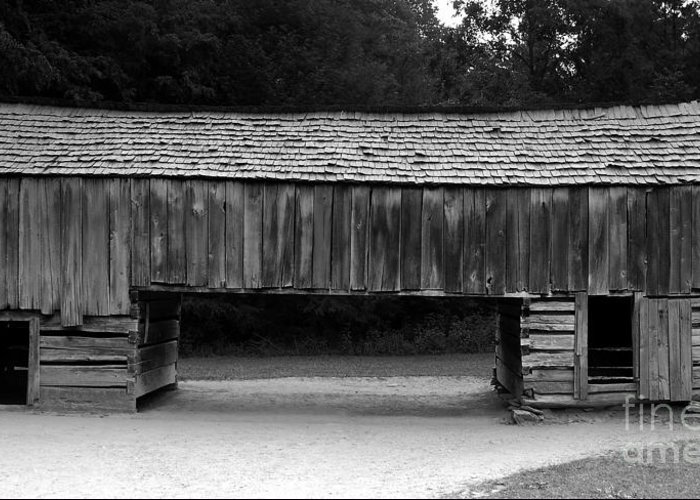 Barn Greeting Card featuring the photograph Long Barn by David Lee Thompson
