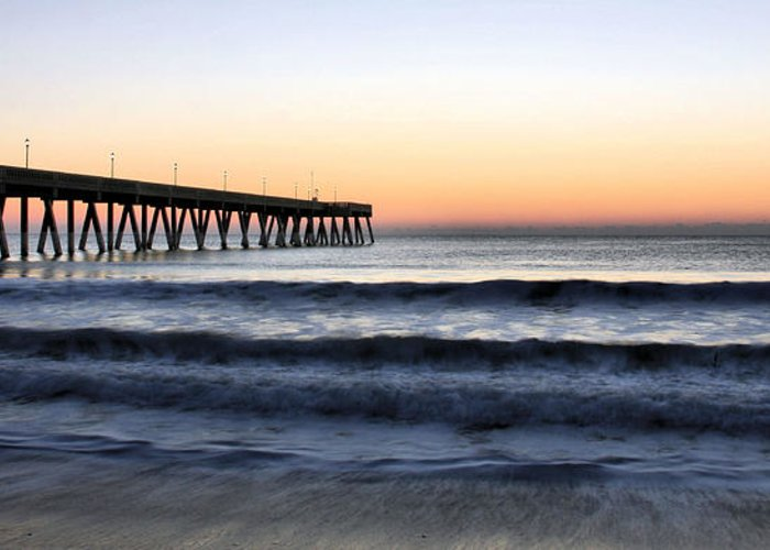 Beach Greeting Card featuring the photograph Long View by JC Findley