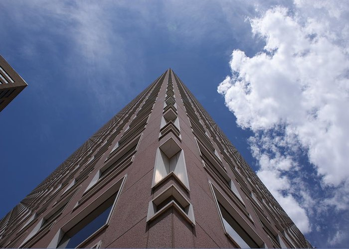 Architecture Greeting Card featuring the photograph Long Way Up by Brian Anderson