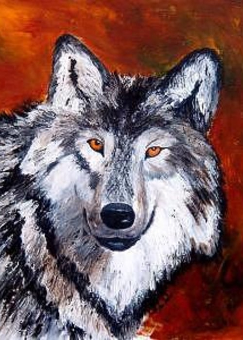 Palette Knife Greeting Card featuring the painting Look Into My Eyes by Tami Booher