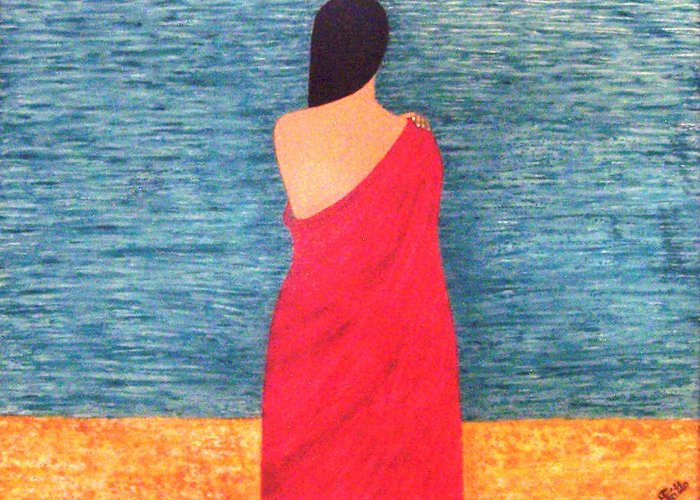 Looking Greeting Card featuring the painting Looking For You by Anneliese Fritts