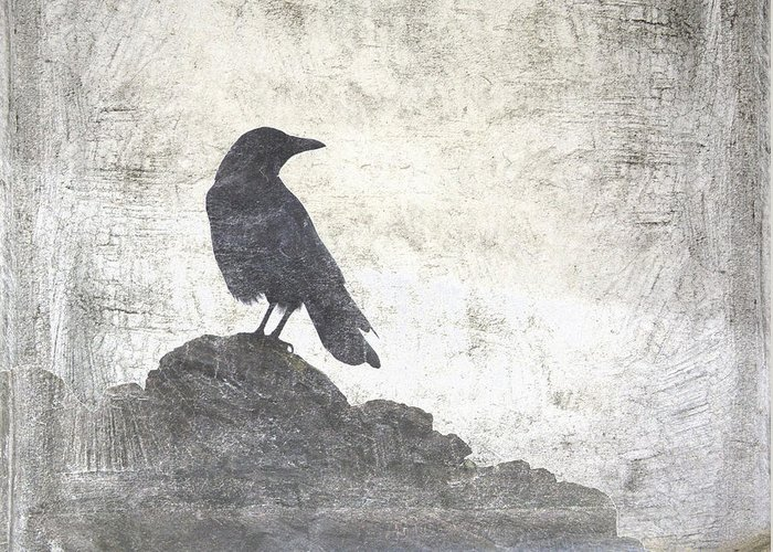 Crow Greeting Card featuring the photograph Looking Seaward by Carol Leigh