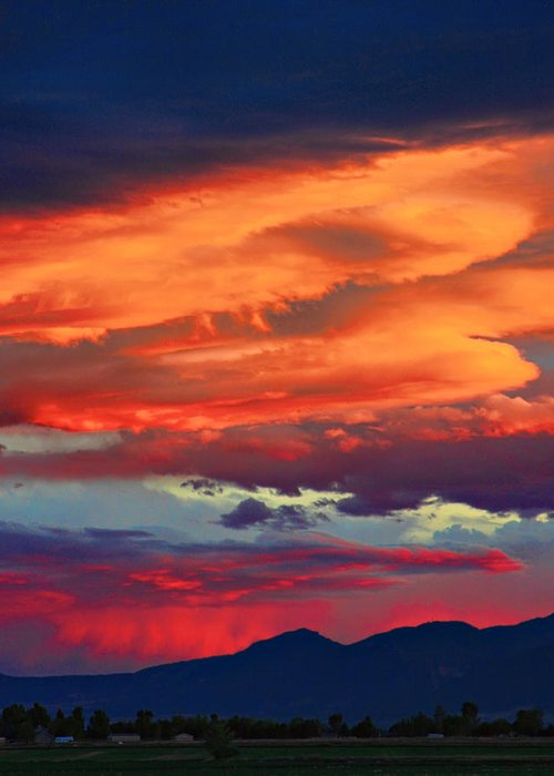 Sunsets Greeting Card featuring the photograph Looking To Boulder by James BO Insogna