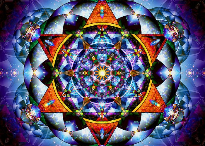 Mandala Greeting Card featuring the digital art Lord Of Light I by Stephen Lucas