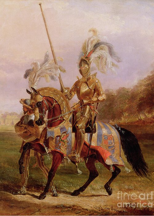 Eglinton Greeting Card featuring the painting Lord Of The Tournament by Edward Henry Corbould