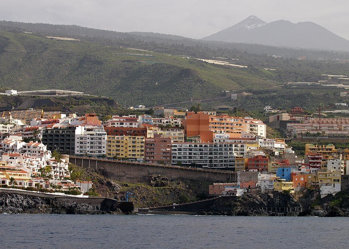 Valasretki Greeting Card featuring the photograph Los Gigantes From The Sea 2 by Jouko Lehto