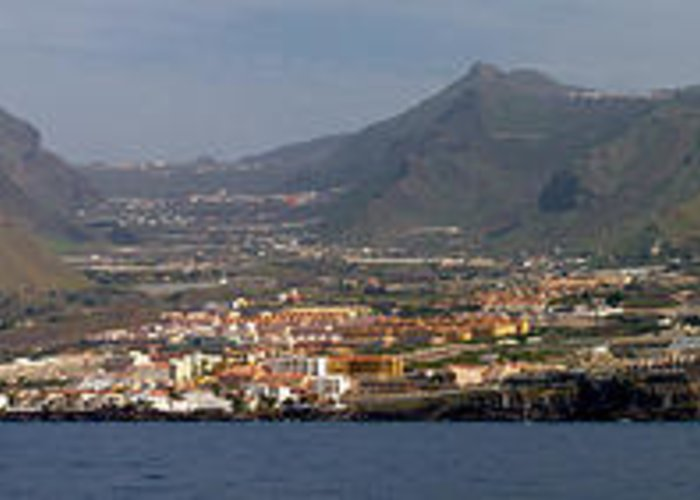 Valasretki Greeting Card featuring the photograph Los Gigantes Panorama 1 by Jouko Lehto
