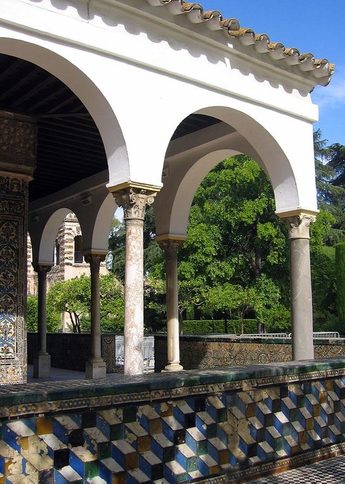Spain Greeting Card featuring the photograph Los Jardines Del Real Alcazar by Lindsey Orlando