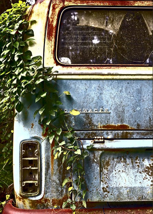 Vw Bus Greeting Card featuring the photograph Lost In Time by Carolyn Marshall