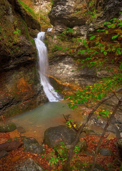 Landscape Greeting Card featuring the photograph Lost Valley Falls by Ryan Heffron