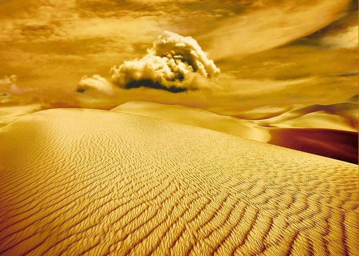 Desert Greeting Card featuring the photograph Lost Worlds by Jacky Gerritsen