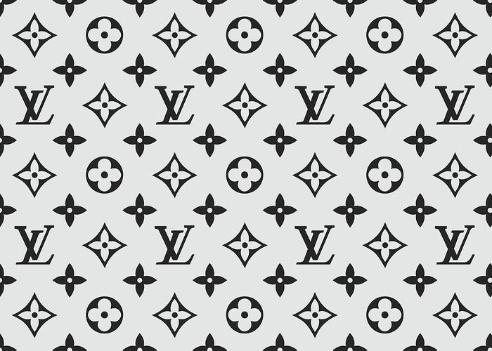 3feeb0a64f2 Louis Vuitton Pattern Lv 07 Grey Greeting Card