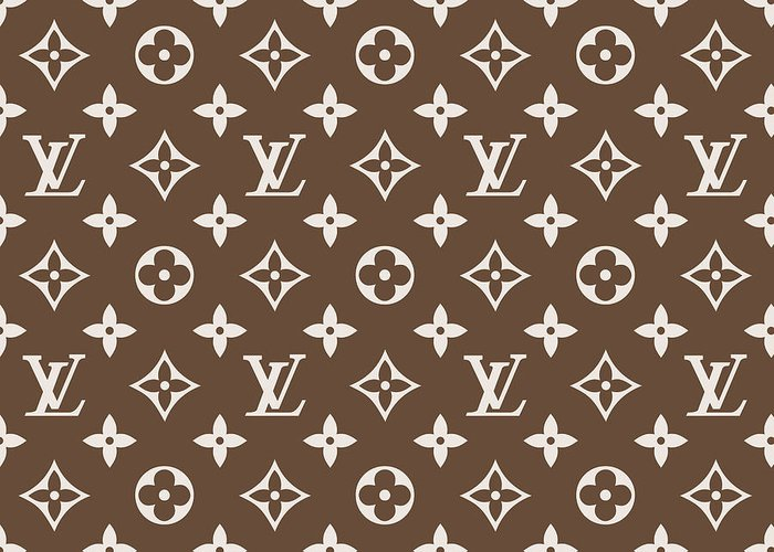 66e2e6742ee Louis Vuitton Pattern - Lv Pattern 05 - Fashion And Lifestyle Greeting Card