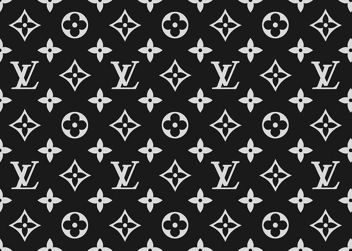 2cdcfbdebdcdd Louis Vuitton Pattern - Lv Pattern 06 - Fashion And Lifestyle Greeting Card